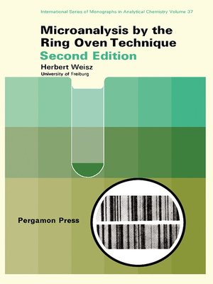 cover image of Microanalysis by the Ring-Oven Technique