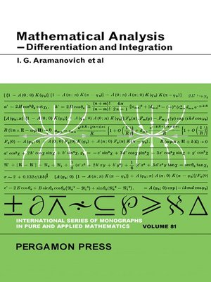 cover image of Mathematical Analysis, Differentiation and Integration