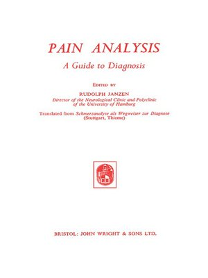cover image of Pain Analysis