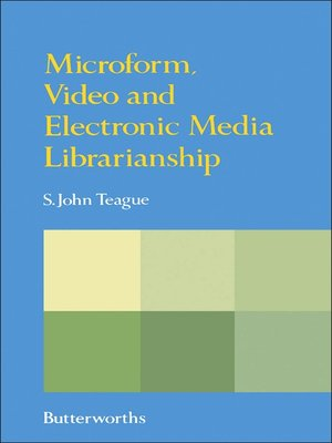 cover image of Microform, Video and Electronic Media Librarianship