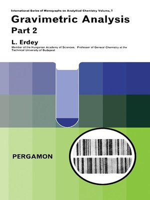 cover image of International Series of Monographs on Analytical Chemistry, Volume 7