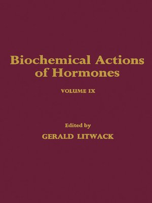 cover image of Biochemical Actions of Hormones, Volume 9