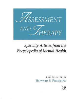 cover image of Assessment and Therapy