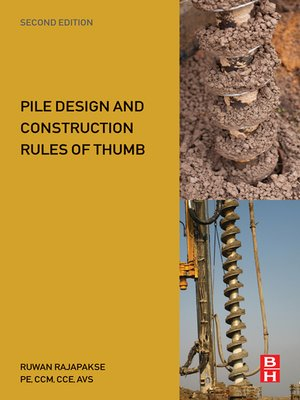 cover image of Pile Design and Construction Rules of Thumb