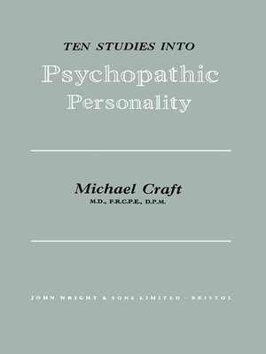 cover image of Ten Studies Into Psychopathic Personality