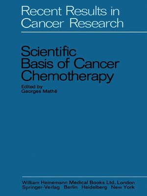 cover image of Scientific Basis of Cancer Chemotherapy