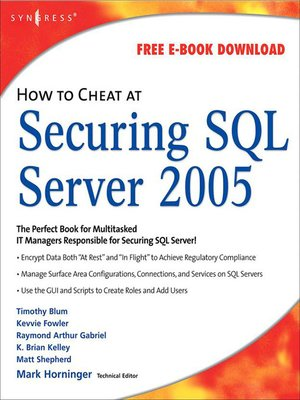 cover image of How to Cheat at Securing SQL Server 2005
