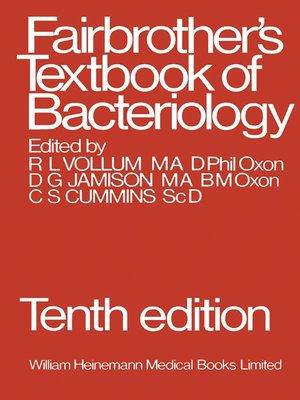 cover image of Fairbrother's Textbook of Bacteriology