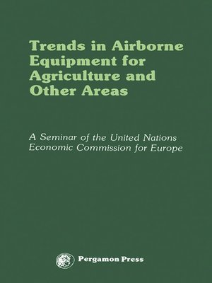 cover image of Trends in Airborne Equipment for Agriculture and Other Areas