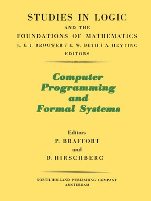 cover image of Computer Programming and Formal Systems