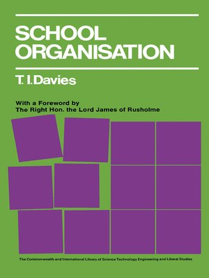 cover image of School Organisation
