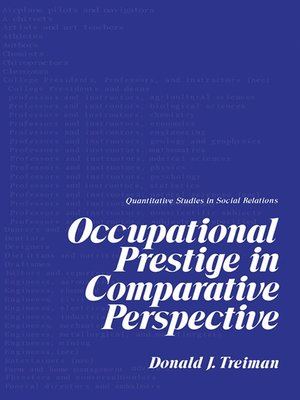 cover image of Occupational Prestige in Comparative Perspective