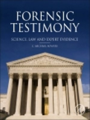 cover image of Forensic Testimony