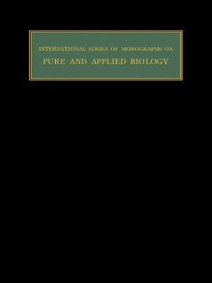 cover image of International Series of Monographs on Pure and Applied Biology: Zoology, Volume 17