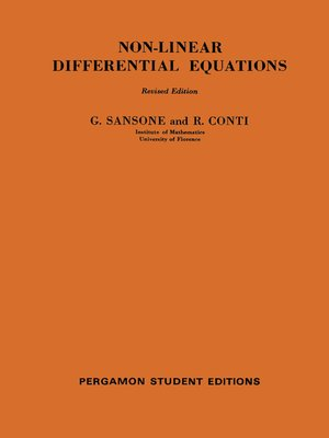 cover image of Non-Linear Differential Equations