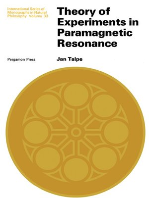 cover image of Theory of Experiments in Paramagnetic Resonance