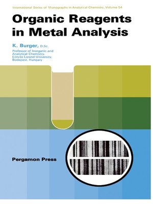 cover image of Organic Reagents in Metal Analysis