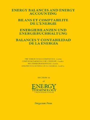 cover image of Energy Balances and Energy Accounting