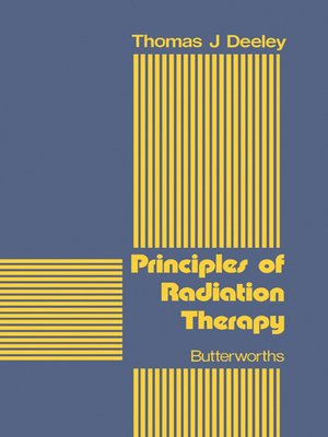 cover image of Principles of Radiation Therapy