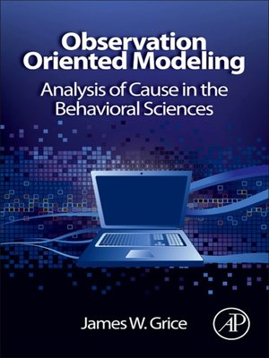 cover image of Observation Oriented Modeling
