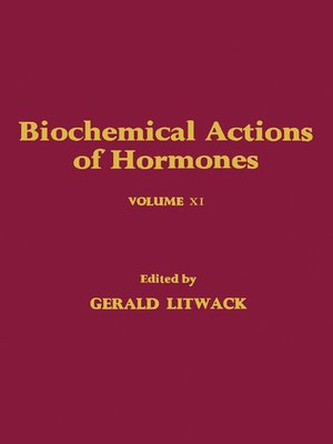 cover image of Biochemical Actions of Hormones, Volume 11
