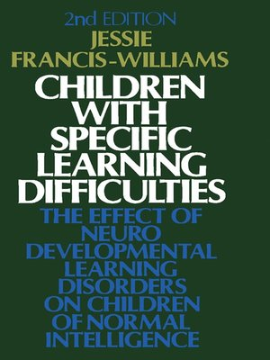 cover image of Children with Specific Learning Difficulties