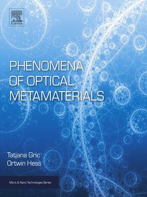 cover image of Phenomena of Optical Metamaterials