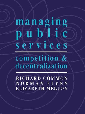 cover image of Managing Public Services