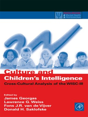 cover image of Culture and Children's Intelligence