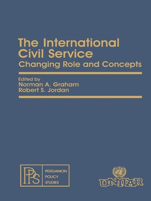 cover image of The International Civil Service