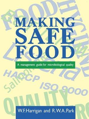 cover image of Making Safe Food