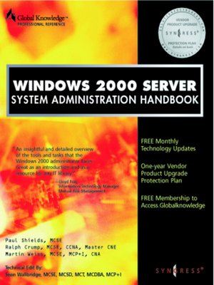 cover image of Windows 2000 Server System Administration Handbook