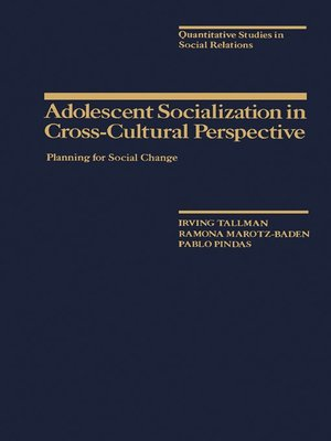 cover image of Adolescent Socialization in Cross-Cultural Perspective