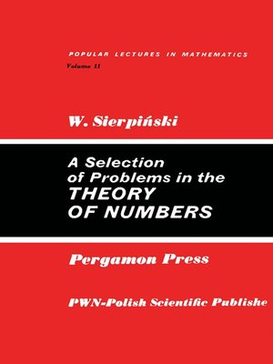 cover image of A Selection of Problems in the Theory of Numbers
