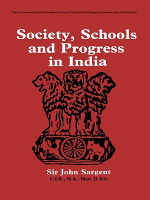 cover image of Society, Schools and Progress in India