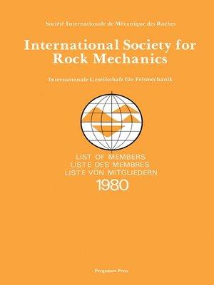 cover image of International Society for Rock Mechanics