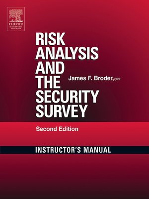 cover image of Risk Analysis and the Security Survey Instructor's Manual