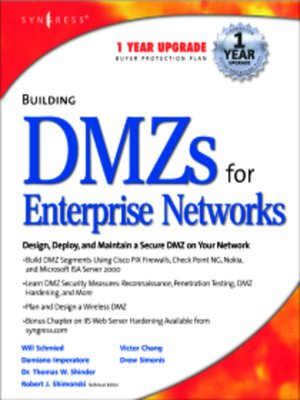 cover image of Building DMZs For Enterprise Networks