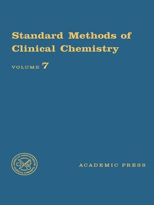 cover image of Standard Methods of Clinical Chemistry