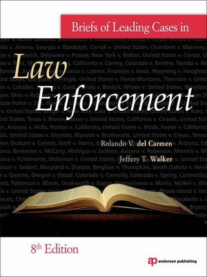 cover image of Briefs of Leading Cases in Law Enforcement