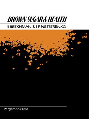 cover image of Brown Sugar and Health