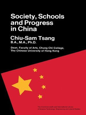 cover image of Society, Schools and Progress in China