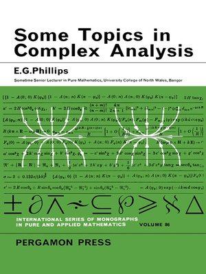 cover image of International Series in Pure and Applied Mathematics, Volume 86