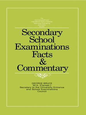 cover image of Secondary School Examinations