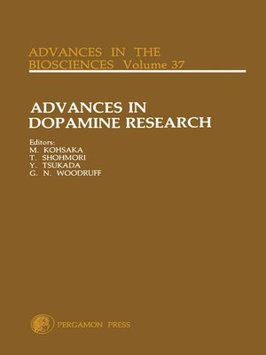 cover image of Advances in Dopamine Research, Volume 37