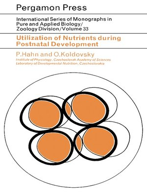 cover image of Utilization of Nutrients During Postnatal Development