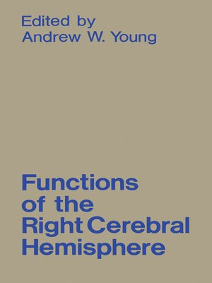 cover image of Functions of the Right Cerebral Hemisphere