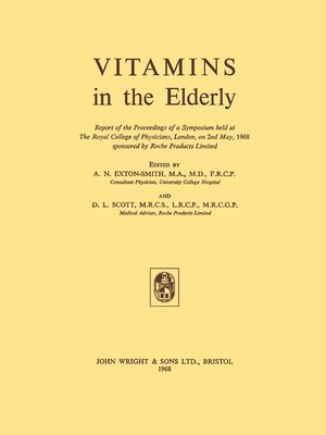 cover image of Vitamins in the Elderly