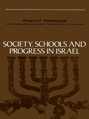 cover image of Society, Schools and Progress in Israel