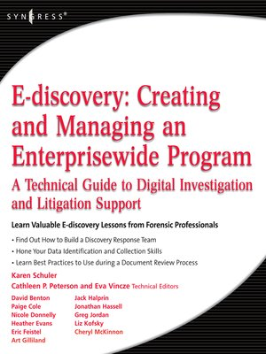 cover image of E-discovery